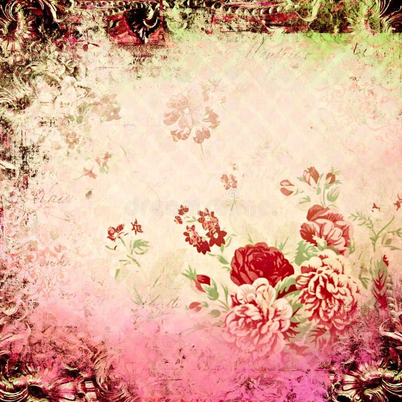 blom- fjädertappning för bakgrund royaltyfri illustrationer