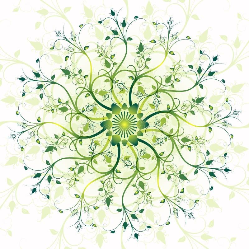 Blom- fjädra rundan inramar stock illustrationer