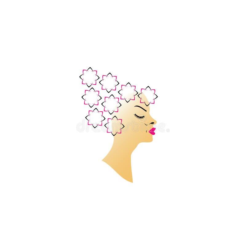 Blom- frisyr stock illustrationer