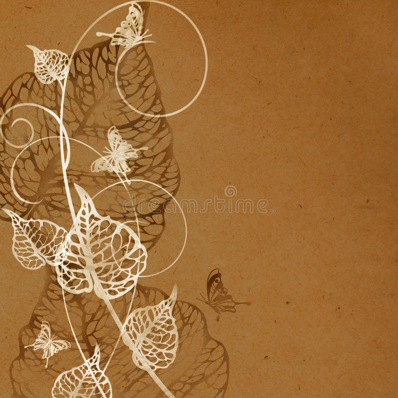 blom- gammal paper modell stock illustrationer