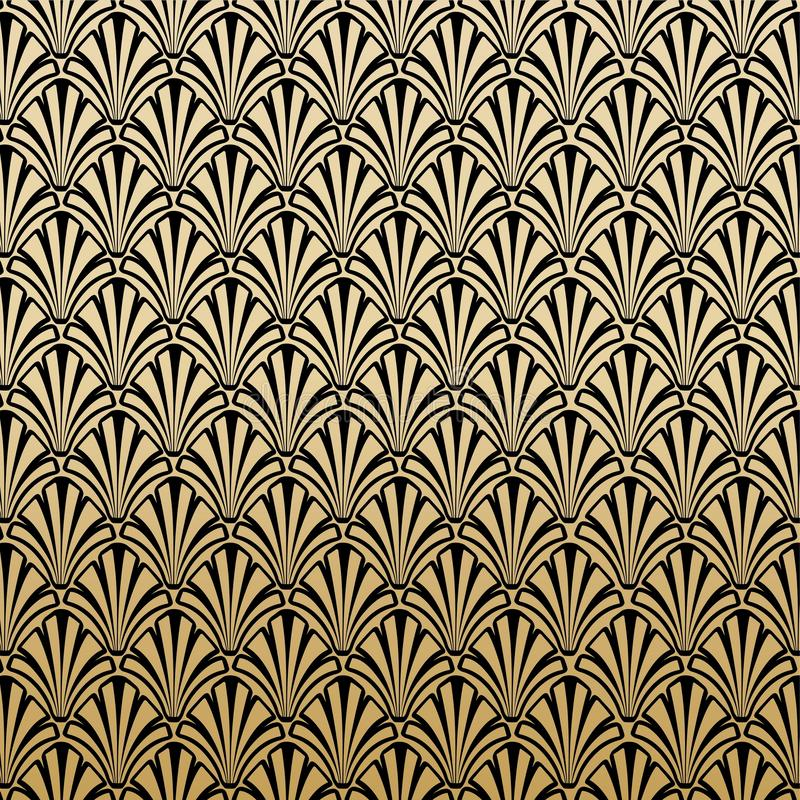 Blom- Gatsby Art Deco Pattern Background Design vektor illustrationer