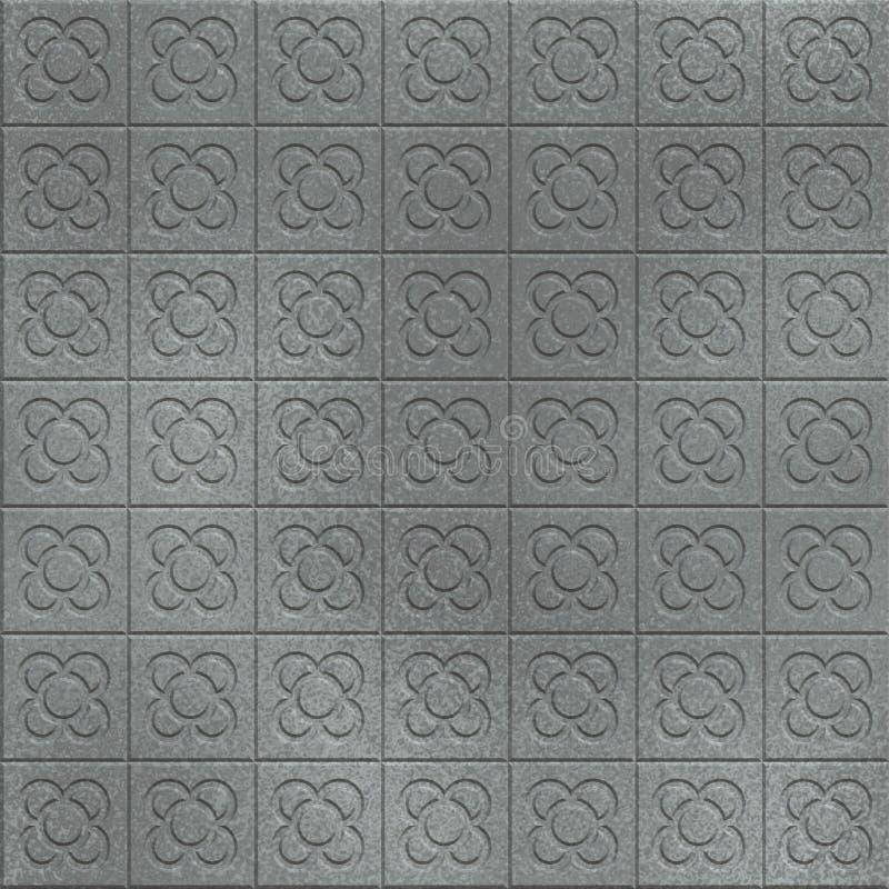 blom- grå trottoar stock illustrationer