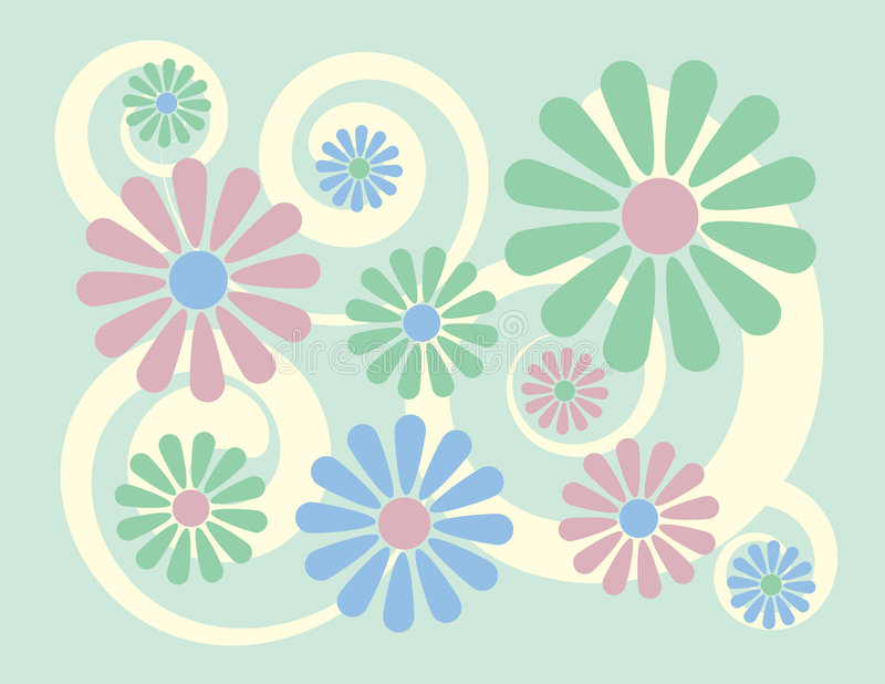 blom- grön mint för bakgrund stock illustrationer