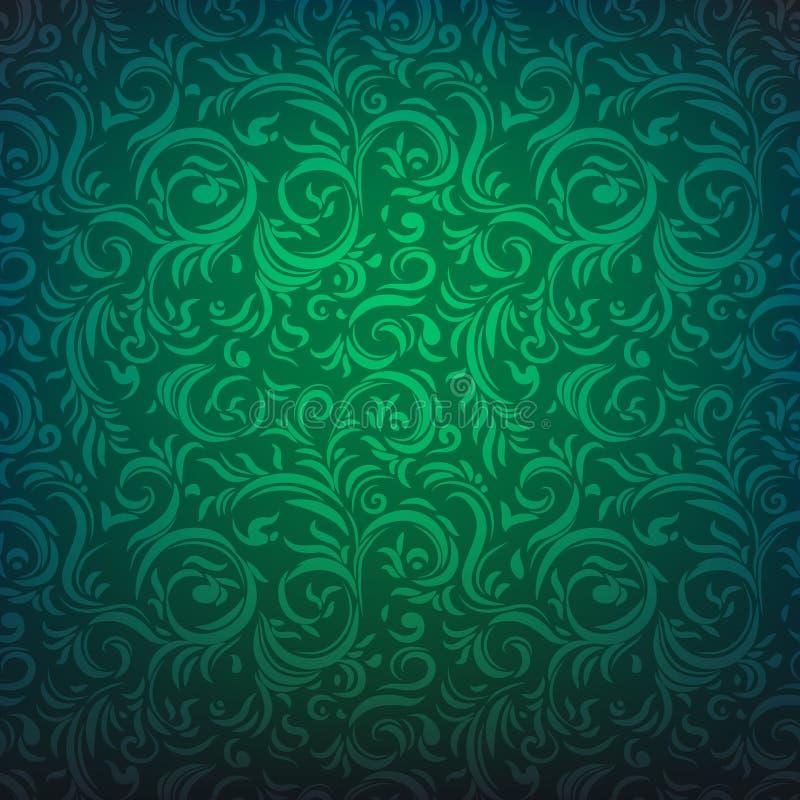 blom- grön modell vektor illustrationer