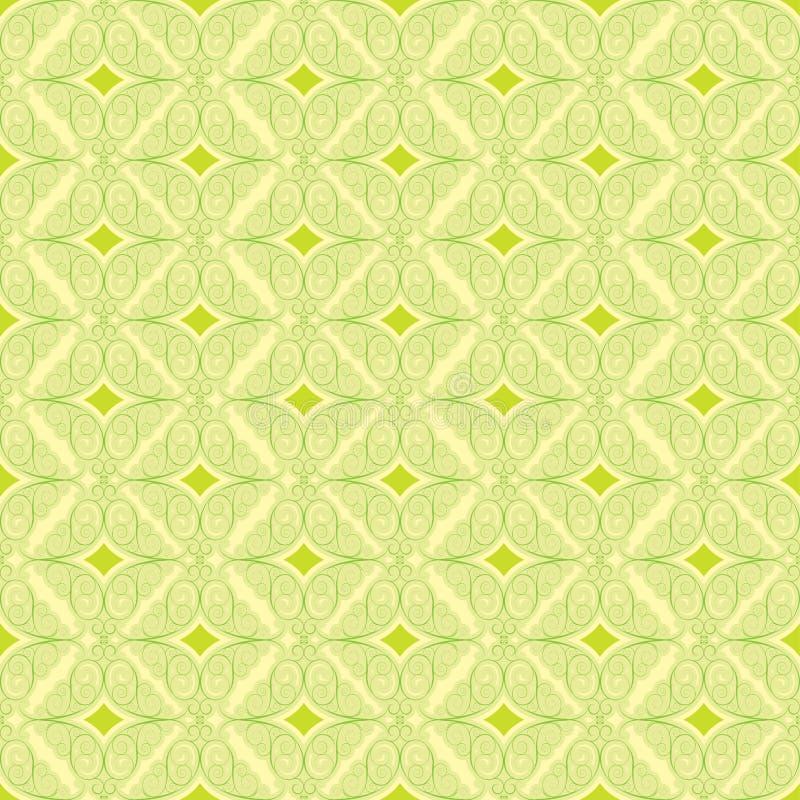 Blom- grön modell för bakgrund stock illustrationer