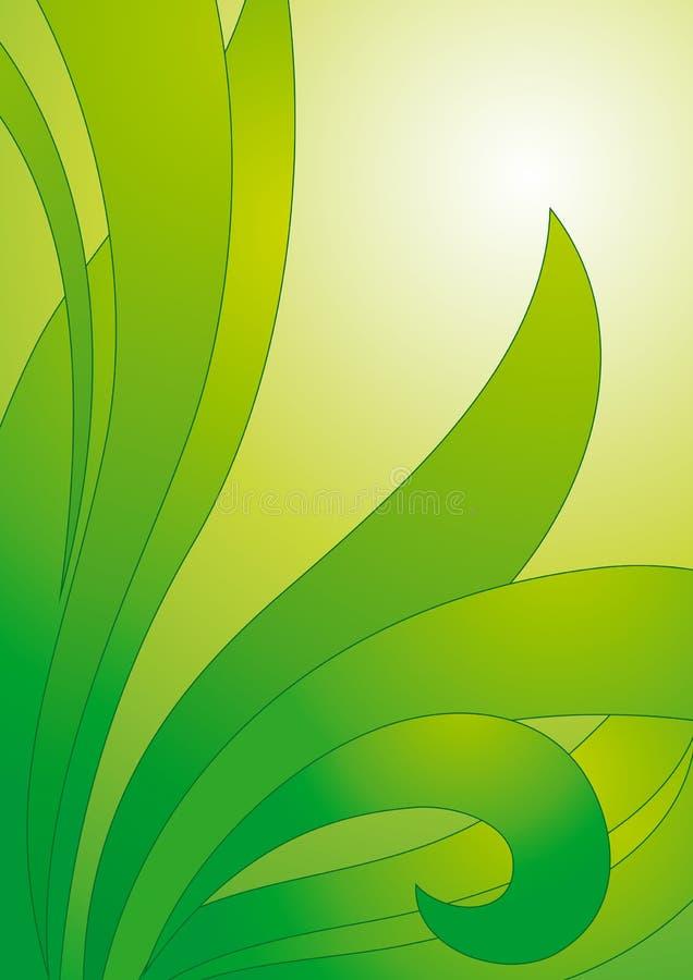 blom- grön vektor för bakgrund stock illustrationer