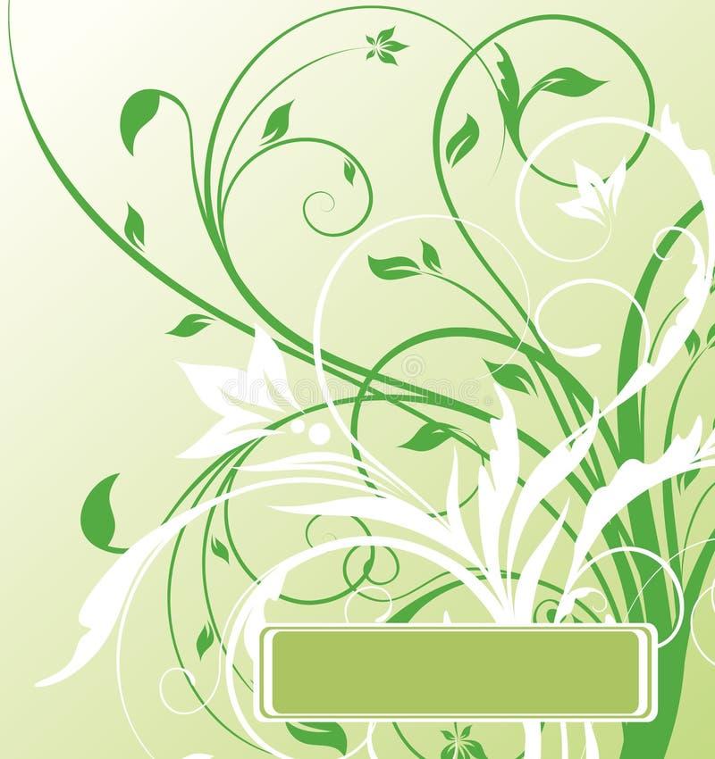 blom- green för abstrakt baner stock illustrationer