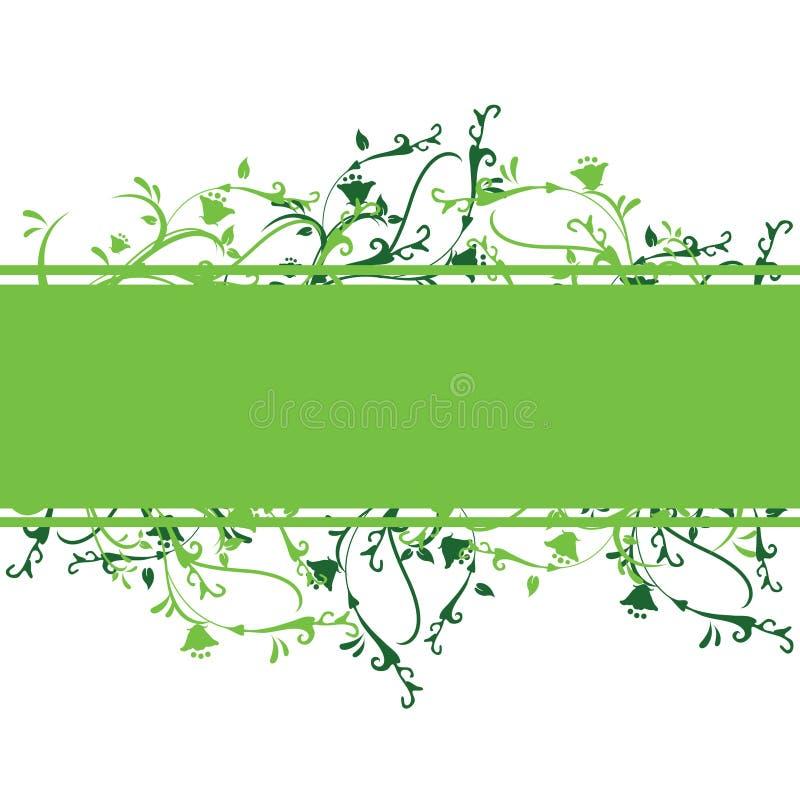 blom- green för baner stock illustrationer
