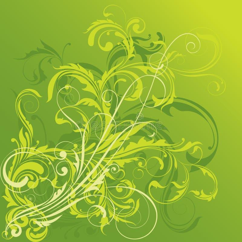 blom- green för design vektor illustrationer