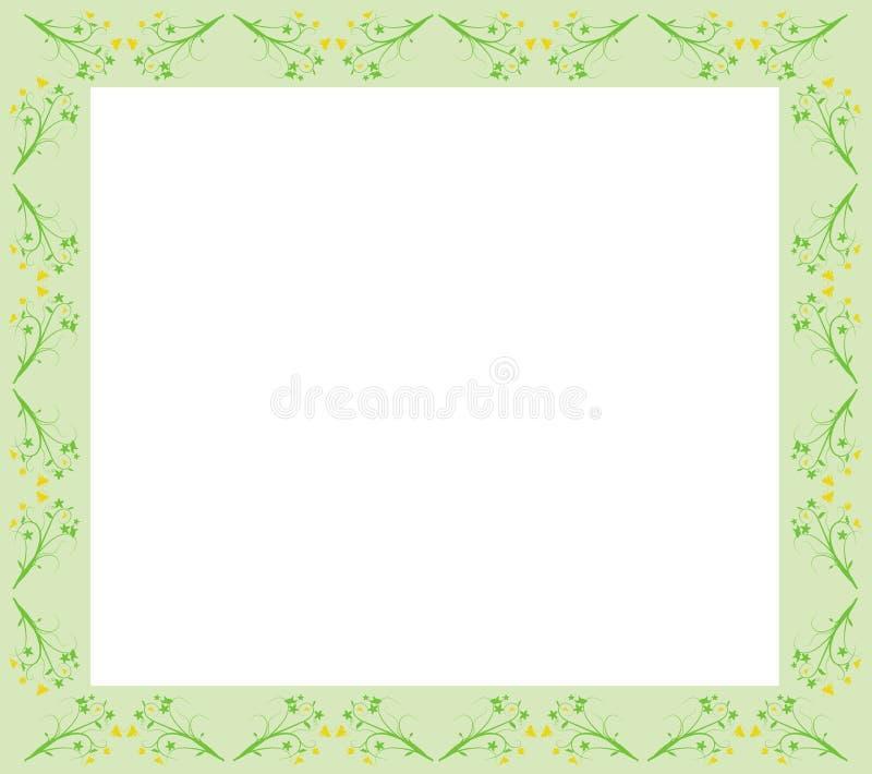 blom- green för kant stock illustrationer