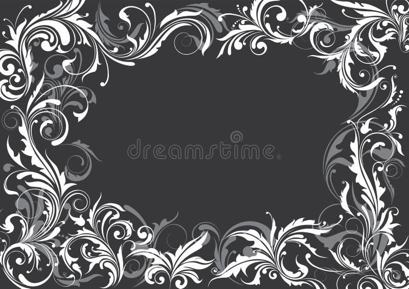 blom- grey för bakgrund stock illustrationer