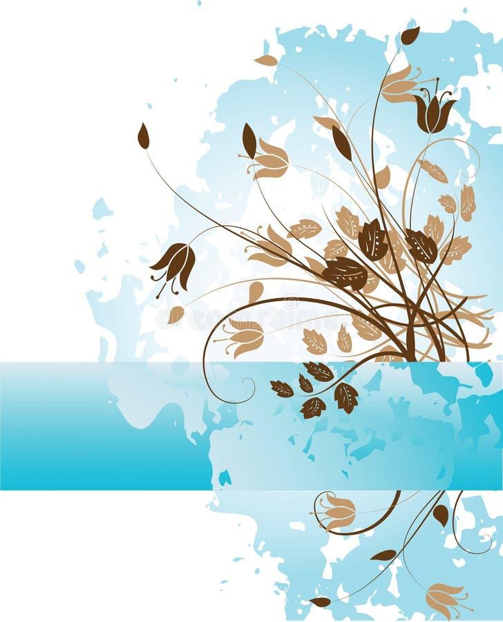 blom- grunge för 2 bakgrund stock illustrationer