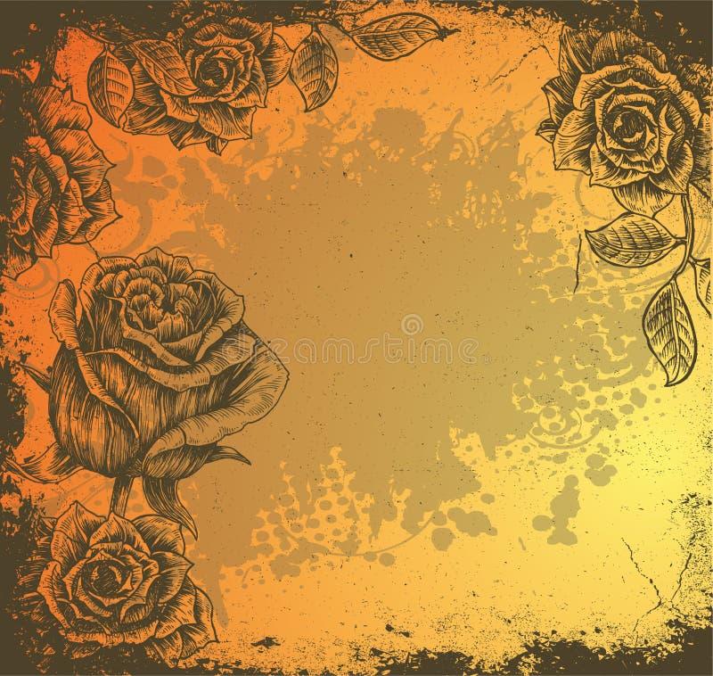 blom- grunge för bakgrund vektor illustrationer