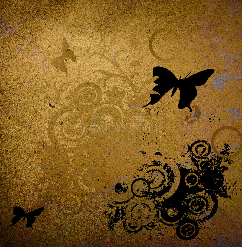 blom- grunge för design royaltyfri illustrationer