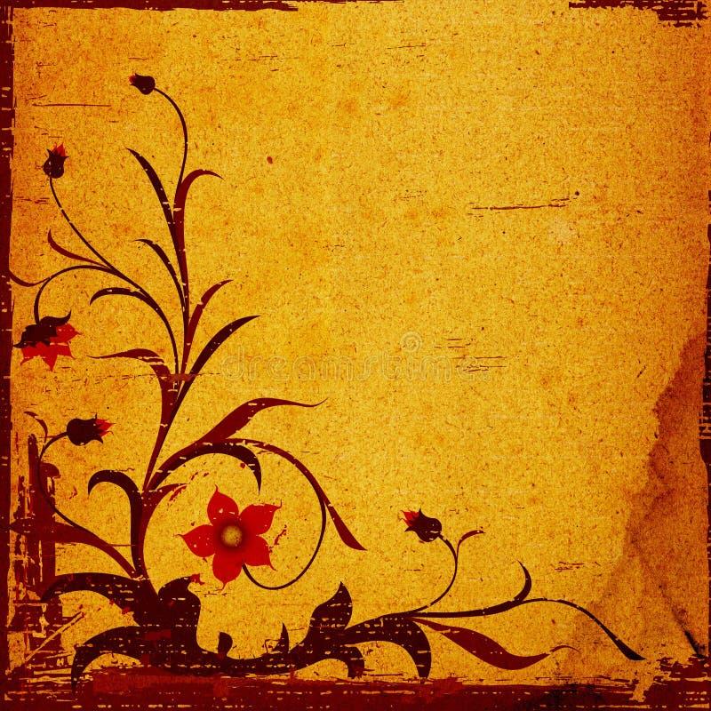 blom- grunge för sammansättning stock illustrationer
