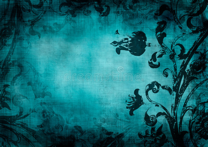 Blom- grungebakgrund vektor illustrationer