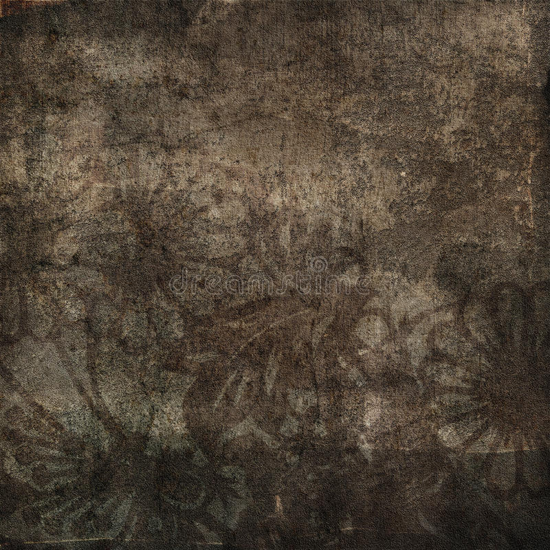 Blom- grungeillustration royaltyfri fotografi
