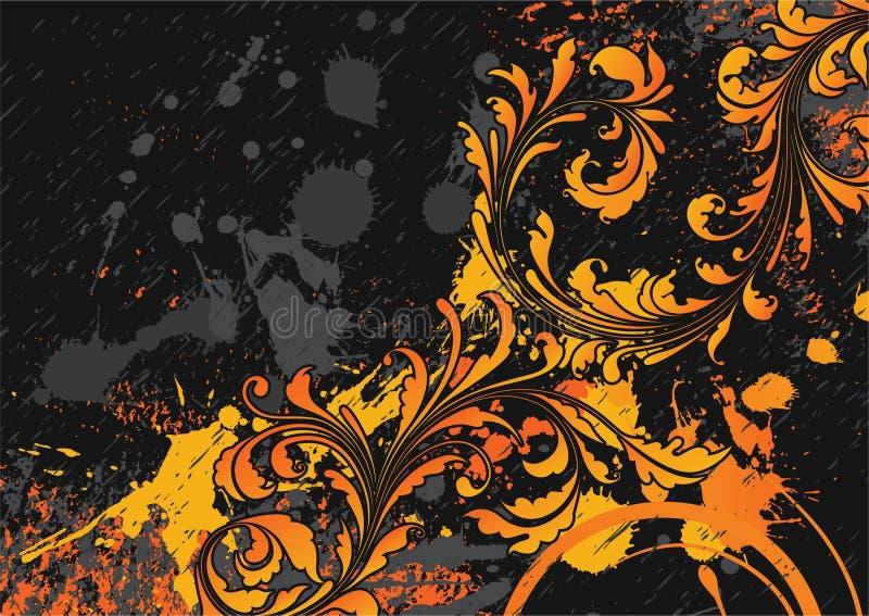 blom- grungetappning för bakgrund royaltyfri illustrationer