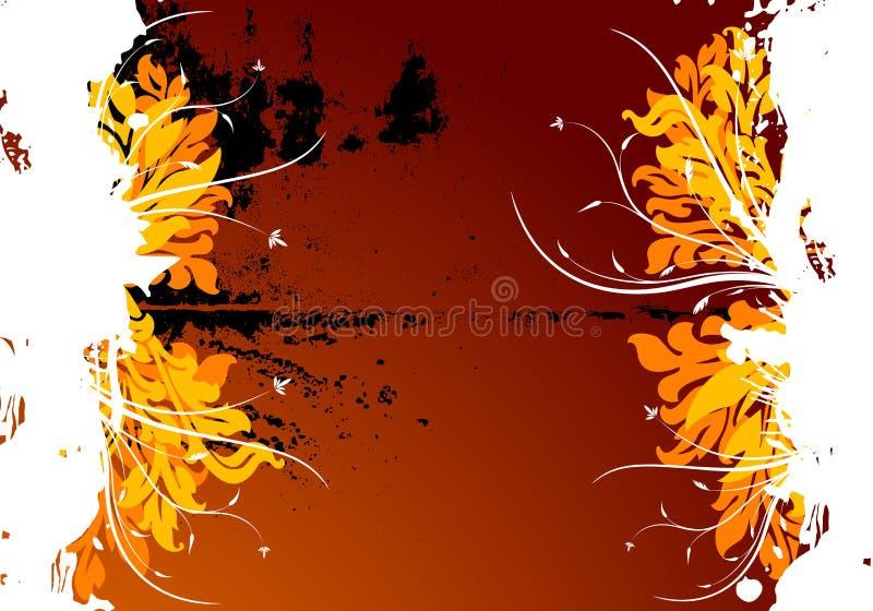 blom- grungevektor för abstrakt bakgrund royaltyfri illustrationer