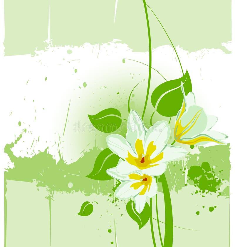 blom- grungevektor för backgroun stock illustrationer