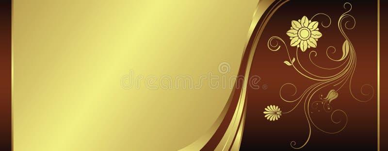 blom- guld- för bakgrund stock illustrationer