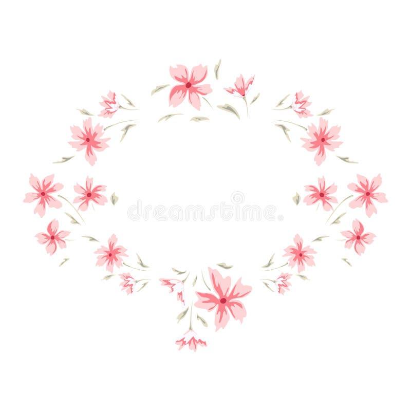 Blom- gullig ram vektor illustrationer