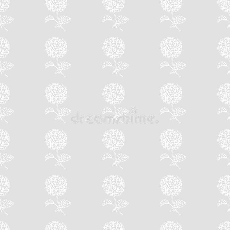 Blom- härliga sömlösa modell-vanlig hortensia blommor för mode vektor illustrationer