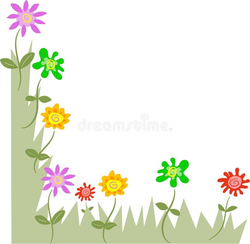 blom- hörn vektor illustrationer