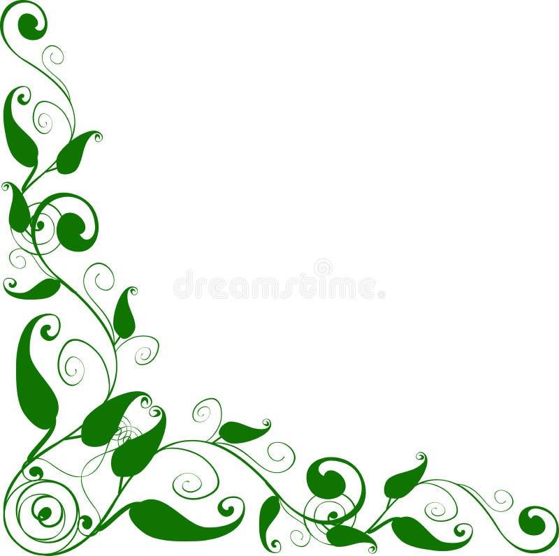 blom- hörn stock illustrationer
