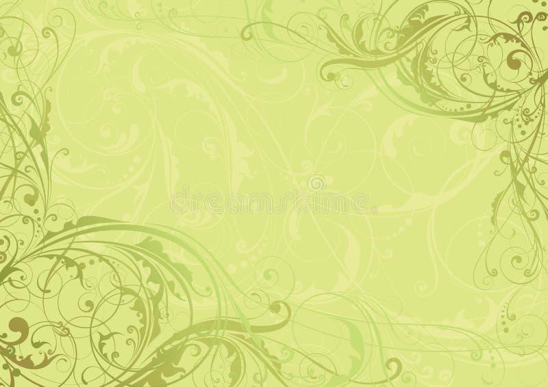 Blom- hörn för bakgrundsvirvel royaltyfri illustrationer