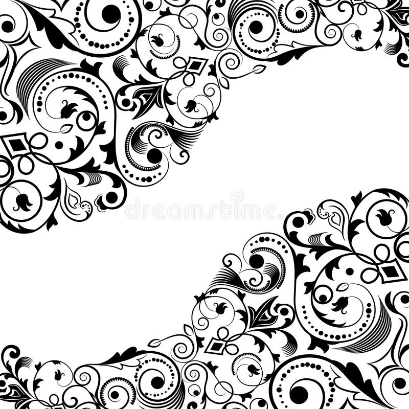 Blom- hörnprydnad stock illustrationer