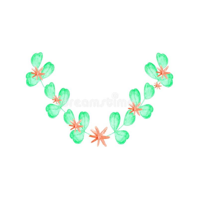 Blom- hand dragen ram stock illustrationer