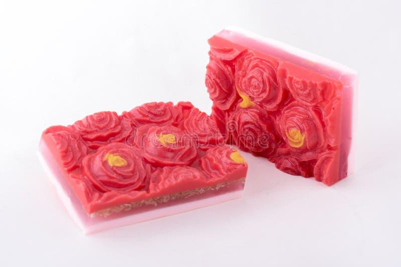 Blom- handgjord tvål royaltyfri bild