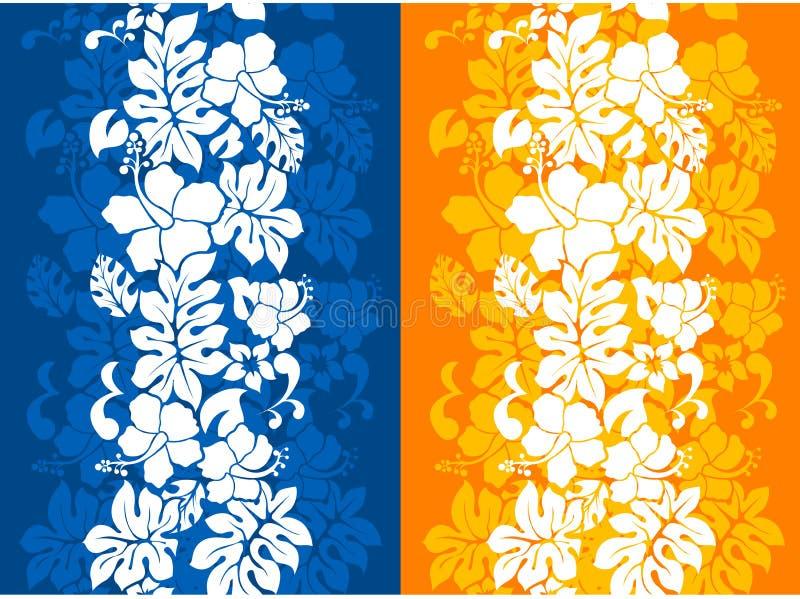blom- hawaianskt seamless för bakgrund vektor illustrationer
