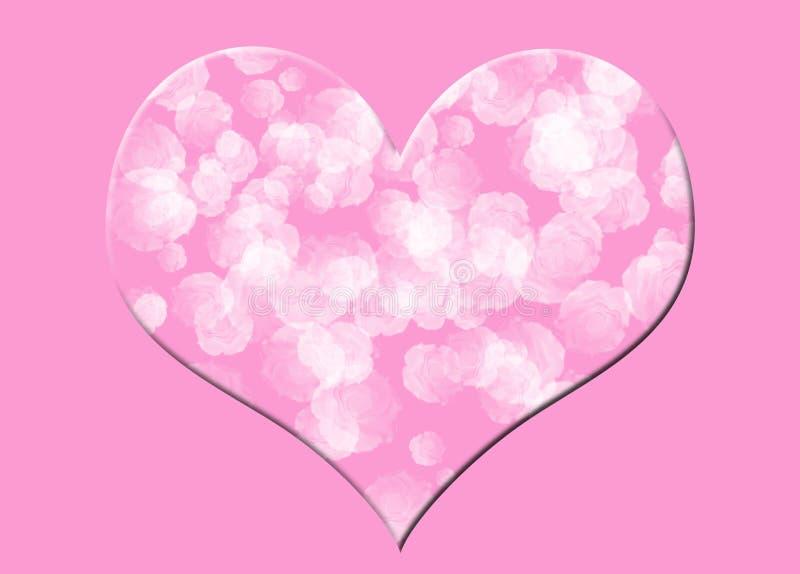 blom- hjärtapink royaltyfria bilder