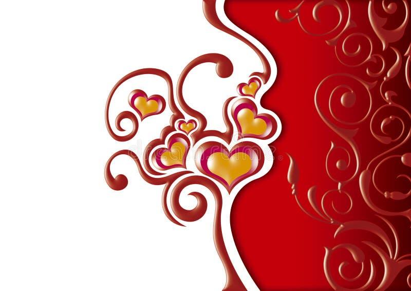 blom- hjärtor royaltyfria bilder