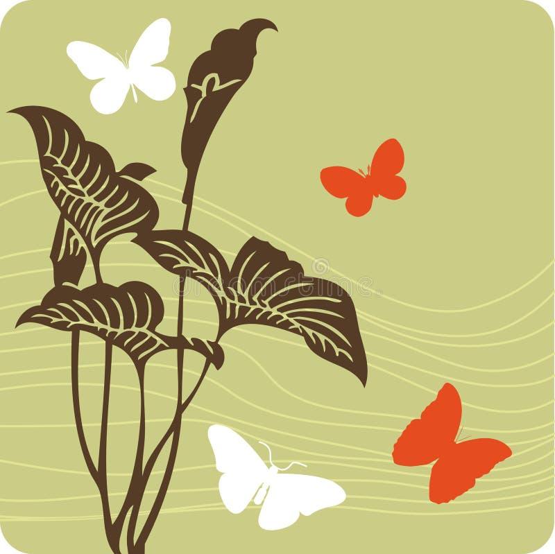 blom- illustration för bakgrund royaltyfri illustrationer