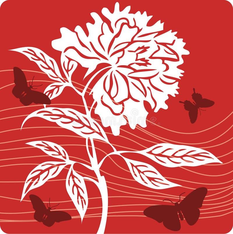 blom- illustration för bakgrund vektor illustrationer