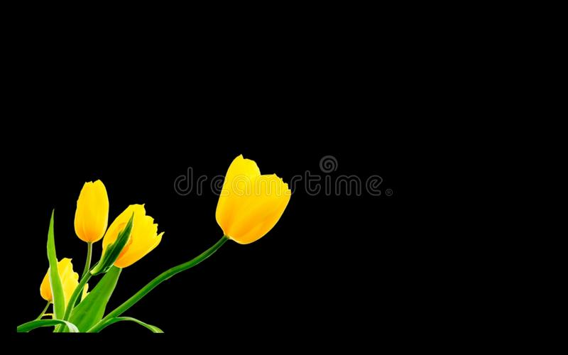 Blom- illustrationdesign stock illustrationer