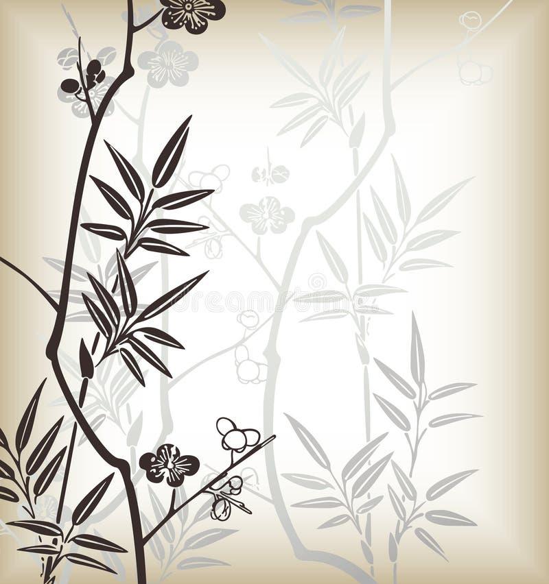 blom- japan för bakgrund royaltyfri illustrationer