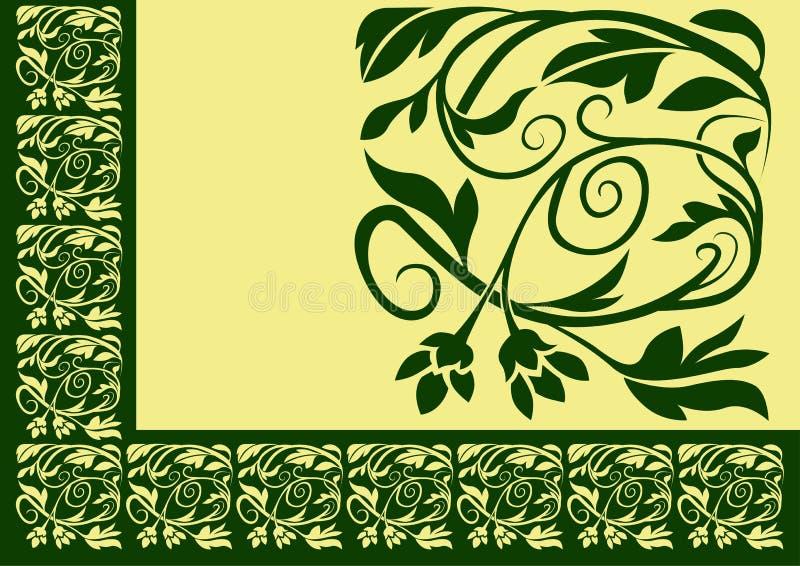 blom- kant 02 royaltyfri illustrationer