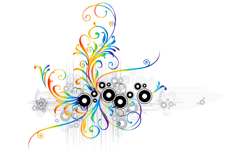 blom- kant royaltyfri illustrationer