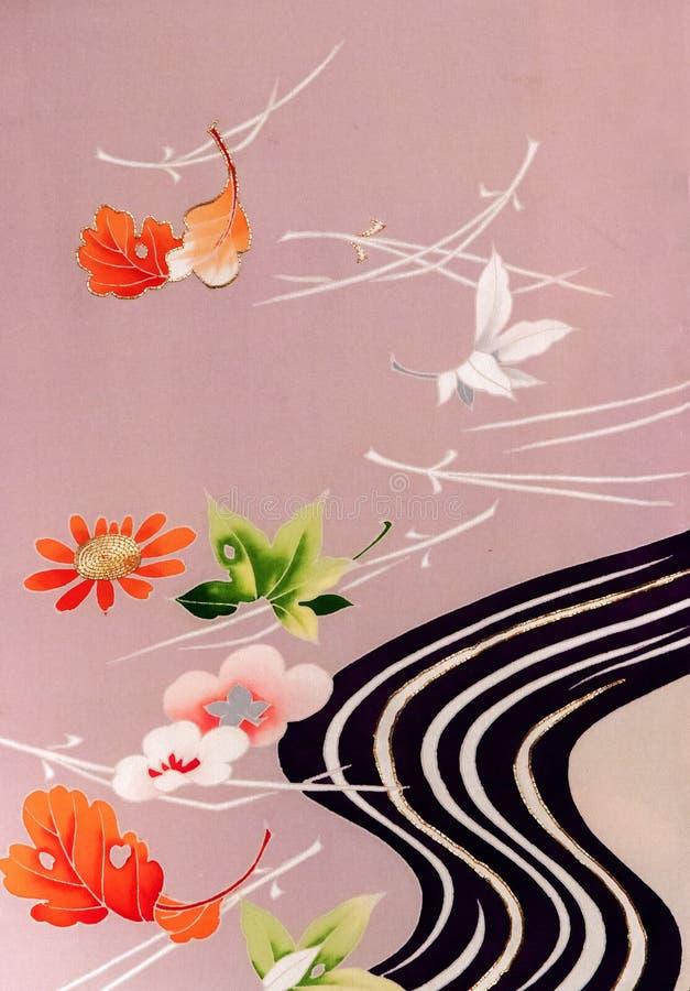Blom- kimono royaltyfri bild
