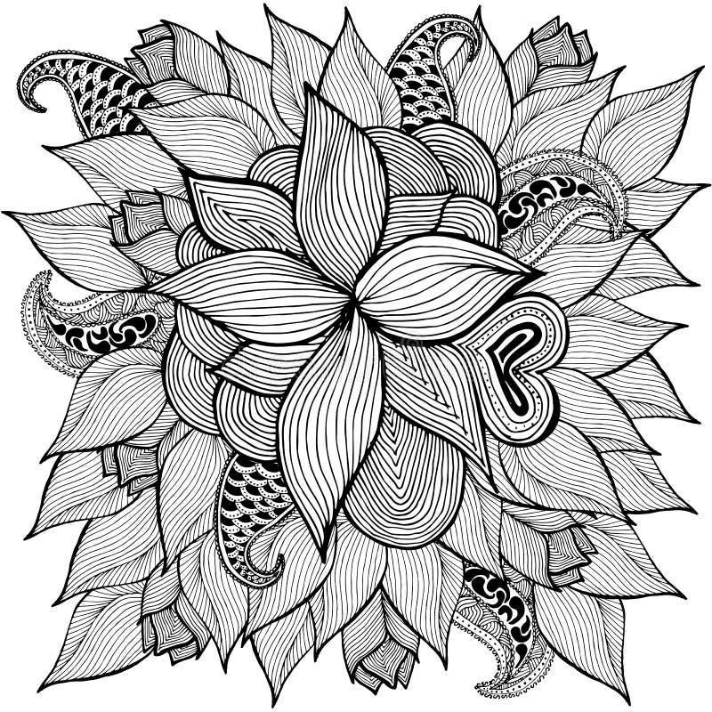Blom- klotterillustration greeting lyckligt nytt år för 2007 kort också vektor för coreldrawillustration vektor illustrationer