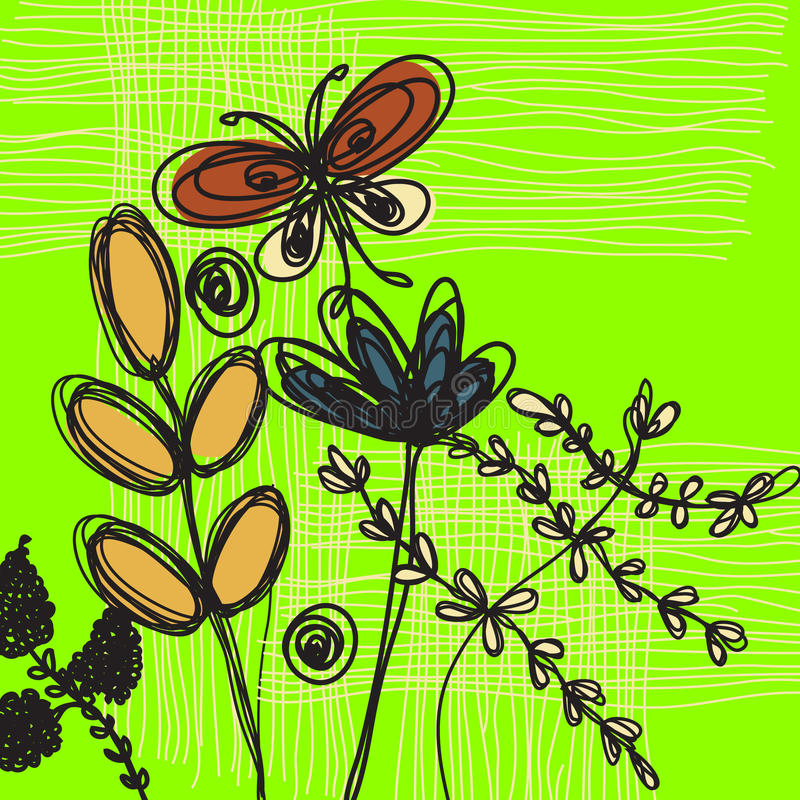 blom- konstbakgrund vektor illustrationer