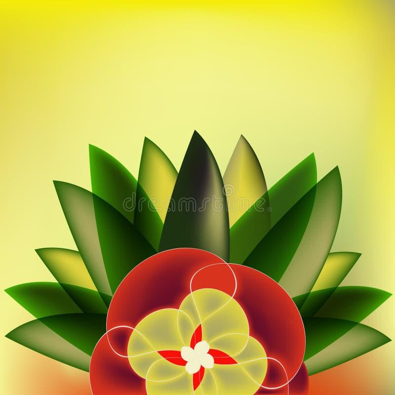 blom- konstbakgrundsdeco stock illustrationer