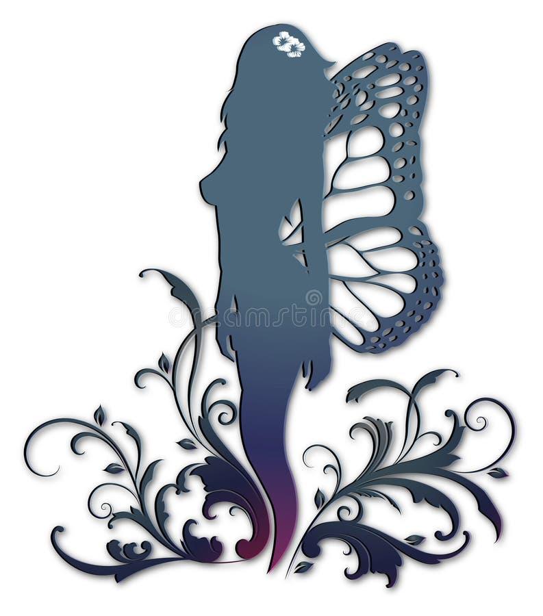 blom- kvinna vektor illustrationer