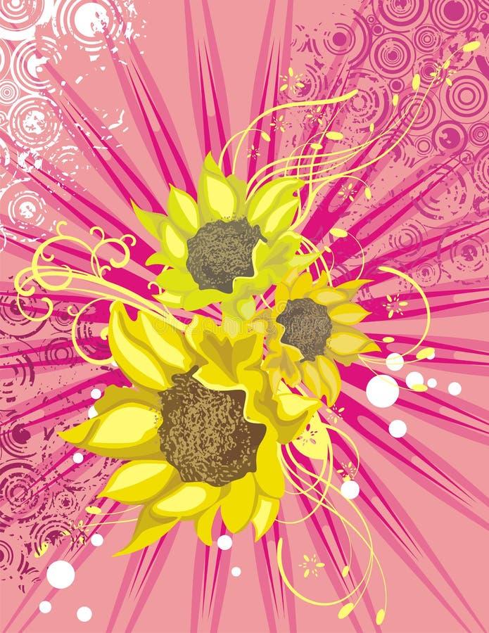 blom- lightray för bakgrund vektor illustrationer