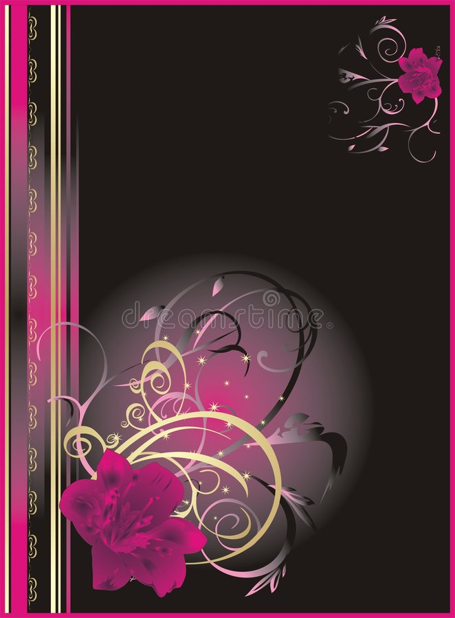 blom- liljainpackning för abstrakt bakgrund royaltyfri illustrationer