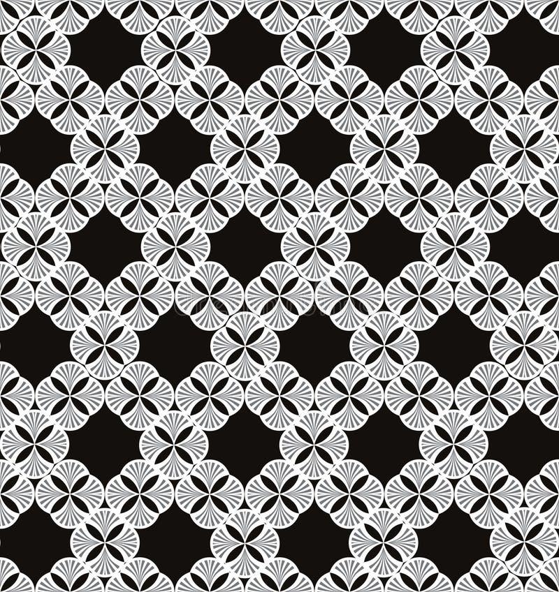 Blom- linje textur. Abstrakt etnisk sömlös bakgrund. stock illustrationer